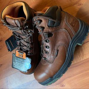 New  Coffee Timberland PRO TiTAN boots 61/2